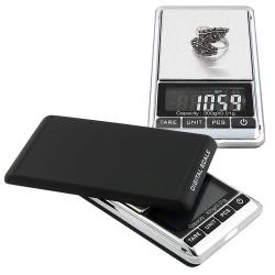 Black/Silver 10.5-ounce Digital Pocket Scale with Soft Pouch