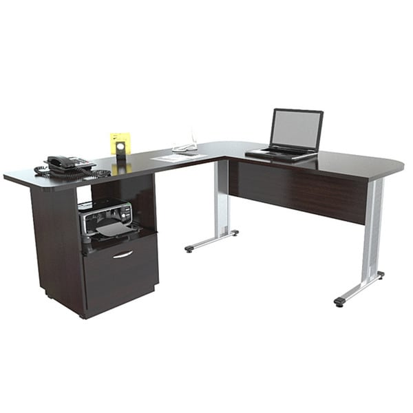 Inval L Workstation with File Espresso/Wenge