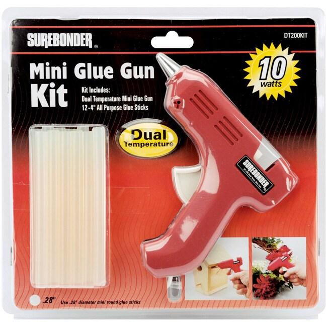 Dual-Temp Red Mini Glue Gun Kit