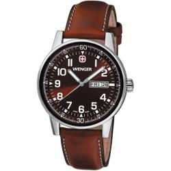 Wenger Men's 'Commando' Day Date XL Brown Dial Watch