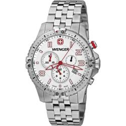 Wenger Men's 'Squadron Chrono' Stainless Steel Watch