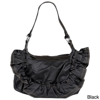 Journee Collection Women's Ruffled Accent Slouchy Handbag