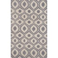 Hand-tufted Modern Waves Grey Rug (2' x 3')