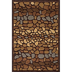 Hand-tufted Pebbles Brown Rug (8'0