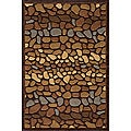 "Hand-tufted Pebbles Brown Rug (5'0"" x 7'6"")"