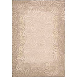 Nourison Hand-tufted Contours Taupe Rug (8' x 10'6)