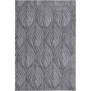 Nourison Hand-Tufted Contours Slate Polyester Rug (3'6