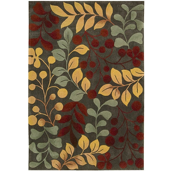 "Nourison Hand-Tufted Polyester Contours Forest Rug (3'6"" x 5'6"")"