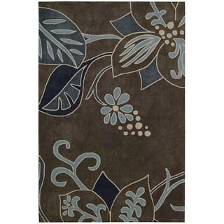 Nourison Hand-tufted Contours Grey Rug (3'6 x 5'6)