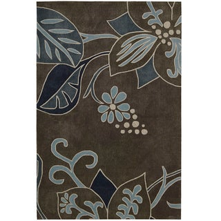Nourison Casual Hand-Tufted Contours Gray Rug (5' x 7'6