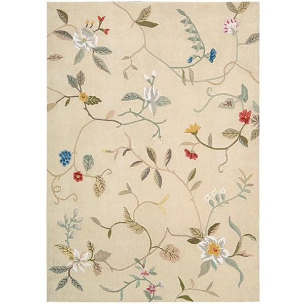 Nourison Hand-tufted Contours Cream Rug (5' x 7'6)