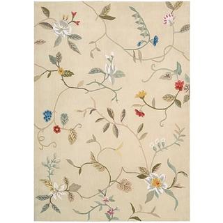 Nourison Hand-tufted Contours Cream Rug (7'3 x 9'3)