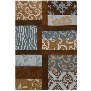 Nourison Hand-tufted Contours Multicolor Rug (7'3 x 9'3)