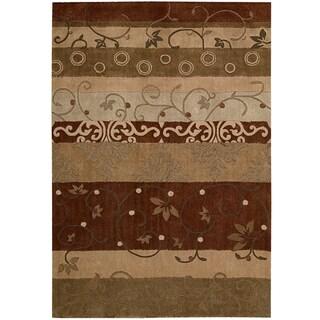 Contemporary Nourison Hand-Tufted Contours Multicolor Rug (7'3
