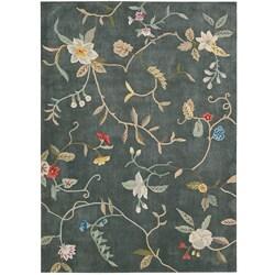 Nourison Hand-tufted Contours Slate Rug (5' x 7'6)
