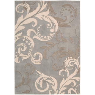 Nourison Hand-tufted Contours Silver Rug (3'6 x 5'6)