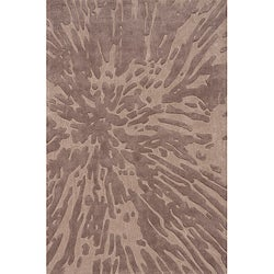 Hand-tufted Splash Taupe Rug (2' x 3')