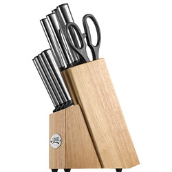 Ginsu Koden 10-piece Cutlery Set with Natural Block