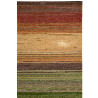 Nourison Hand-tufted Contours Harvest Rug (7'3 x 9'3)