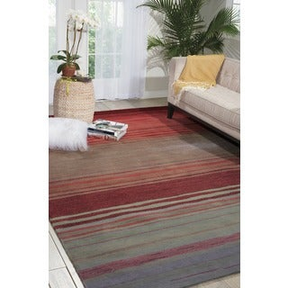 Nourison Hand-tufted Contours Flame Rug (5' x 7'6)