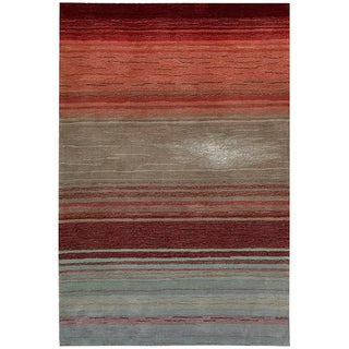 Nourison Hand-Tufted Contours Flame Area Rug (7'3 x 9'3)