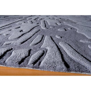 Hand-tufted Splash Charcoal Rug (8'0' x 10'0')