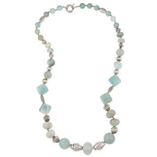 Pearlz Ocean Amazonite Graduated 24-inch Necklace