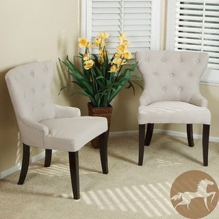 Christopher Knight Home Curved Back Tufted Chairs (Set of 2)