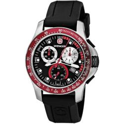 Wenger Men's 'Battalion' Red Bezel Chronograph Watch