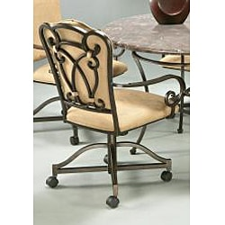 Vienna Topanga Brown Polyester Dining Caster Chair
