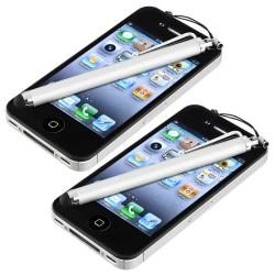 Silver Touch Screen Stylus for Apple iPhone/ iPod/ iPad (Pack of 2)