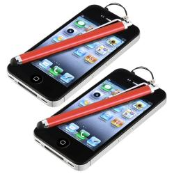 Red Touch Screen Stylus for Apple iPhone/ iPod/ iPad (Pack of 2)