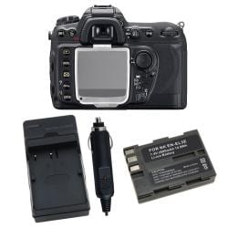 Battery/ Charger Set/ Screen Protector Cover for Nikon D200