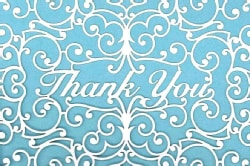 Laser Cut Thank You Cards (Cards)