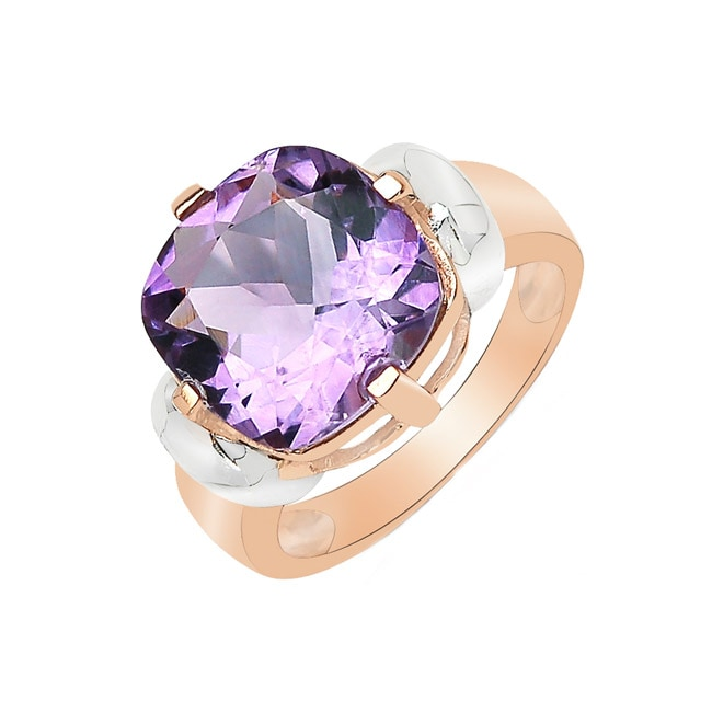 Sheila Kay 14k Yellow Gold Overlay Amethyst Ring