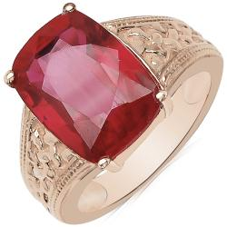 Sheila Kay 14k Rose Gold Overlay Created Ruby Ring