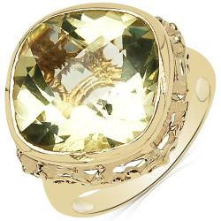Sheila Kay 14k Yellow Gold Overlay Lemon Quartz Ring
