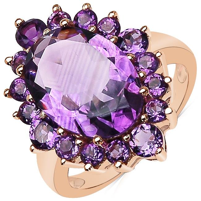 Sheila Kay 14k Rose Gold Overlay Amethyst Ring