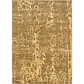 Cream/ Beige Abstract Area Rug (5'3 x 7'5)
