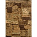 LNR Home Opulence Brown/ Cream Abstract Area Rug (5'3 x 7'5)