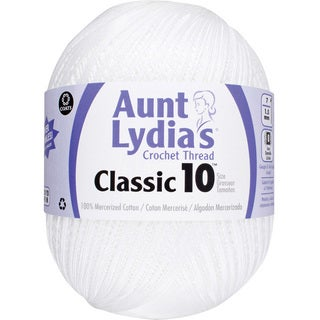 Aunt Lydia's Size 10 White Cotton Jumbo Crochet