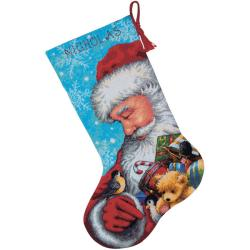 Santa And Toys Stocking Needlepoint Kit
