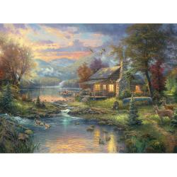 Thomas Kinkade Nature's Paradise Counted Cross Stitch Kit