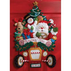 Mail Truck Wall Hanging Felt Applique Kit