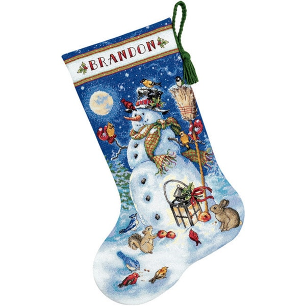 Gold Collection Snowman & Friends Stocking Counted Cross Stitch