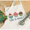 Life Is Sweet Apron Stamped Cross Stitch