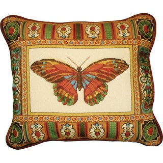 MCG Textiles Butterfly With Mosaic Border Needlepoint Kit