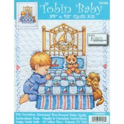 Bedtime Prayer Boy Quilt Stamped Cross Stitch Kit