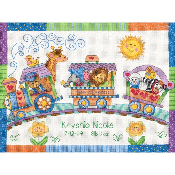 Dimensions Baby Hugs Birth Record Cross Stitch Kit 8375829