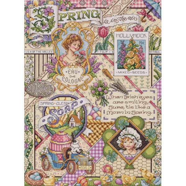 Janlynn Spring Sampler Cross Stitch Kit